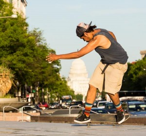 Skateboarding in Washington DC